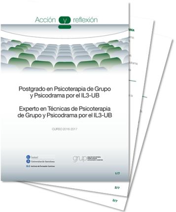 Expert en Psicoteràpia de Grup i Psicodrama per l'IL3 - Universitat de Barcelona